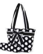 Quilted Polka Dot  Lunch Tote