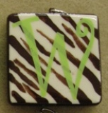 Cocoa-Lime Zebra Initial
