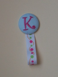 Monogrammed Magnetic ID Badge Holder