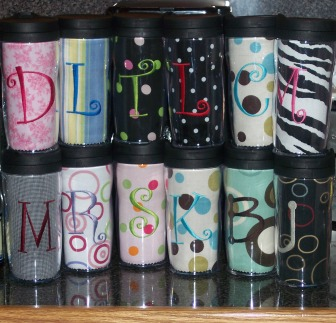 Monogrammed Travel Coffee Mug