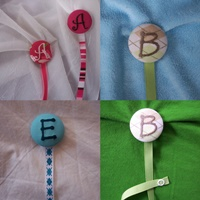 Button Pacifier  Clips