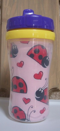Pink Ladybug Sippy Cup