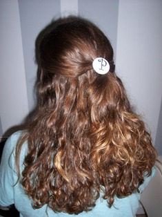 Monogrammed Pony Tail Holder