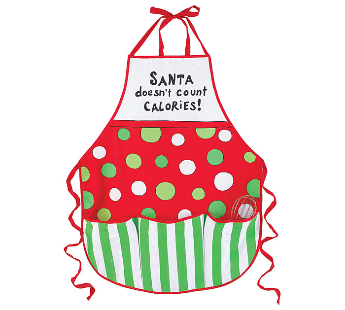 Christmas Apron- Santa - No  Calories